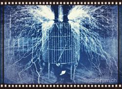 Nikola Tesla - Herr der Blitze. Hier in seinem Labor in Colorado Springs